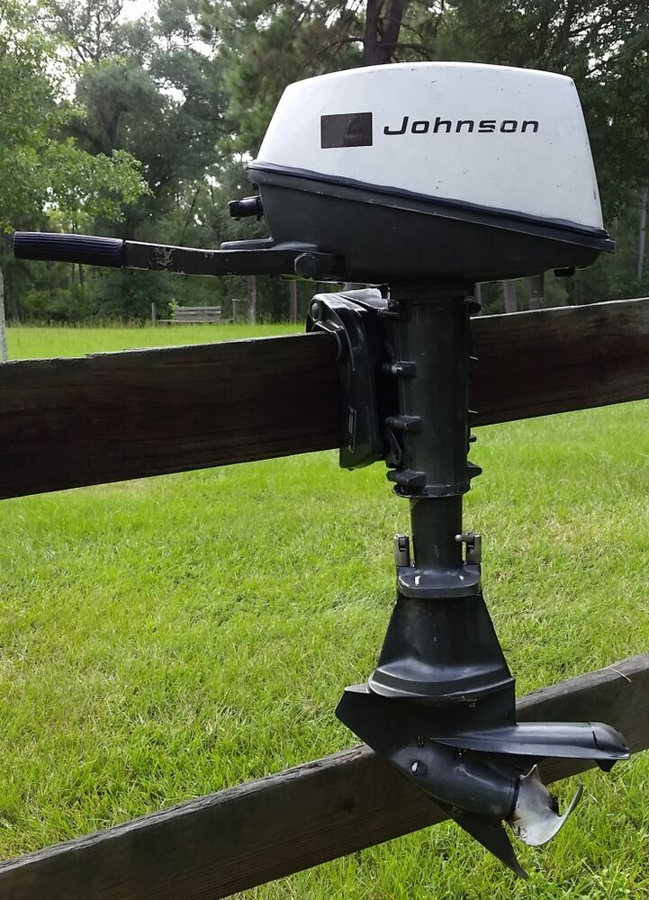 Vintage 1968 johnson 3 hp folding outboard motor model for 4 horse boat motor