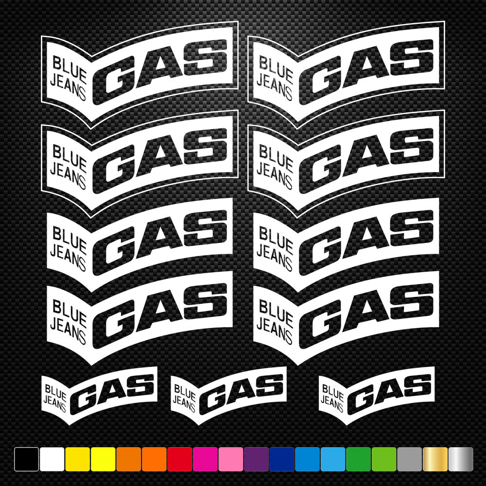 gas 11 stickers autocollants adh sifs auto moto voiture sponsor marques ebay. Black Bedroom Furniture Sets. Home Design Ideas