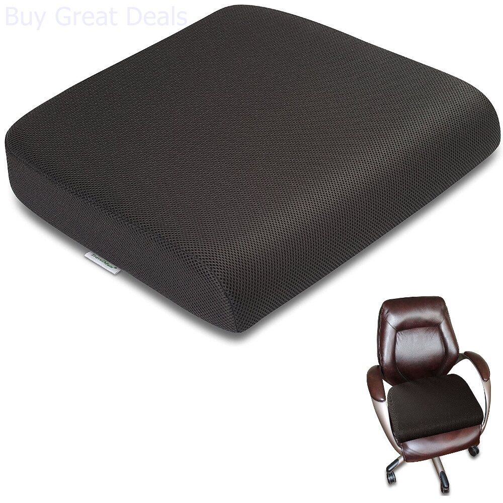 Extra Large Seat Cushion Office Chair Pillow Memory Foam Top Pad Pain Relief