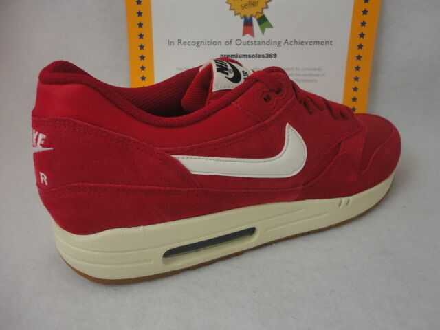 1db7c66107 Details about Nike Air Max 1 Essential, Suede, Gym Red / Sail / Black, Size  13 Rare!!!