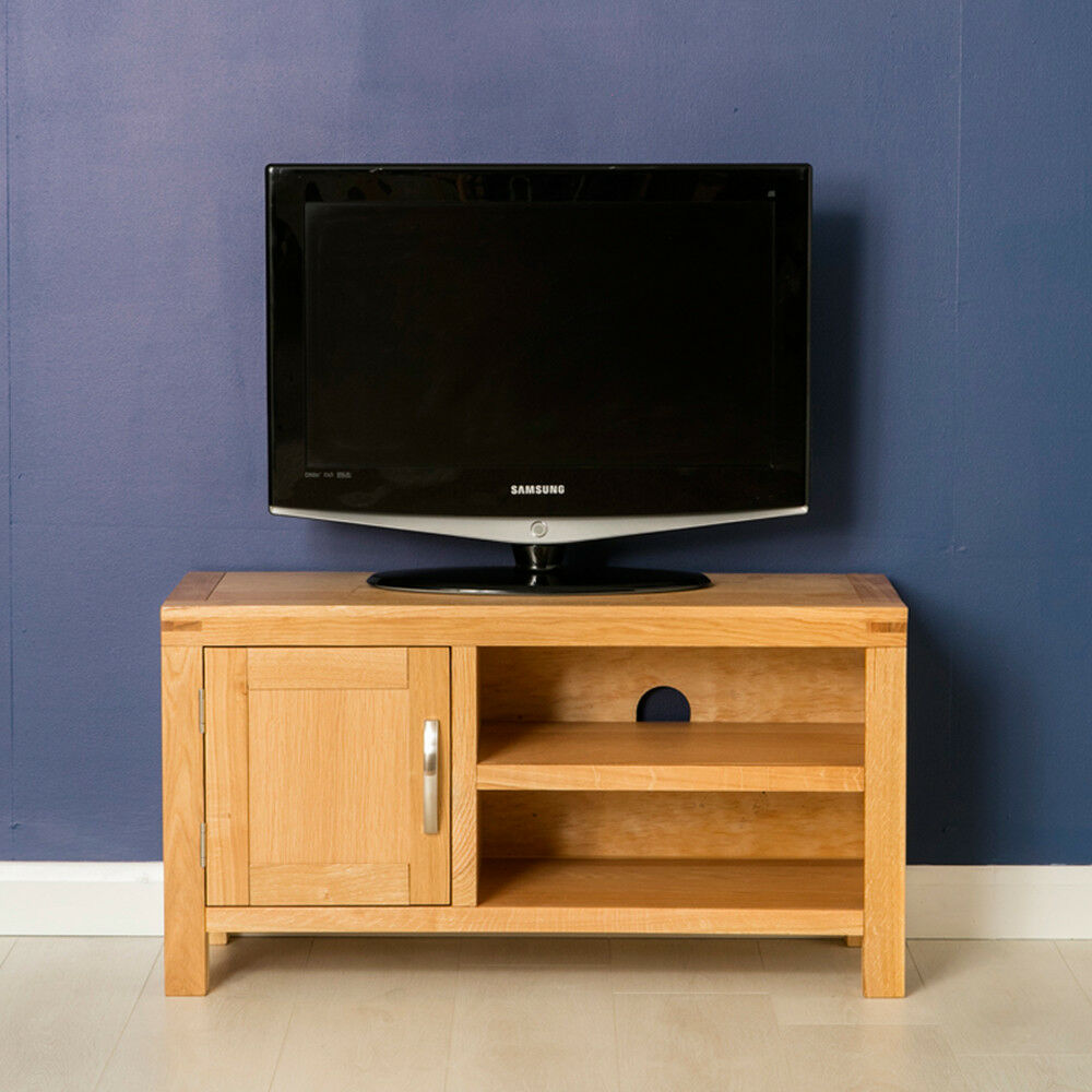 Abbey Light Oak Small Tv Stand Modern Oak Tv Cabinet Solid  # Meuble Tv Vero
