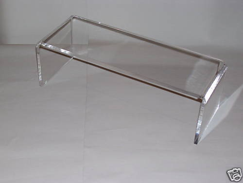 clear acrylic shelf riser for ikea detolf cabinet ebay. Black Bedroom Furniture Sets. Home Design Ideas