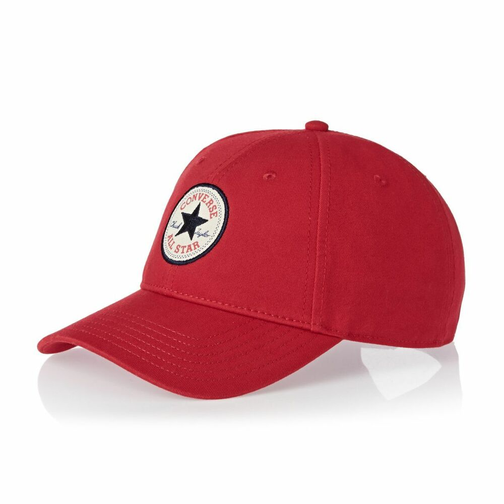 7a4617288ba Details about CONVERSE MENS BASEBALL CAP.RED TWILL ADJUSTABLE SNAPBACK  CURVED PEAK HAT CON301