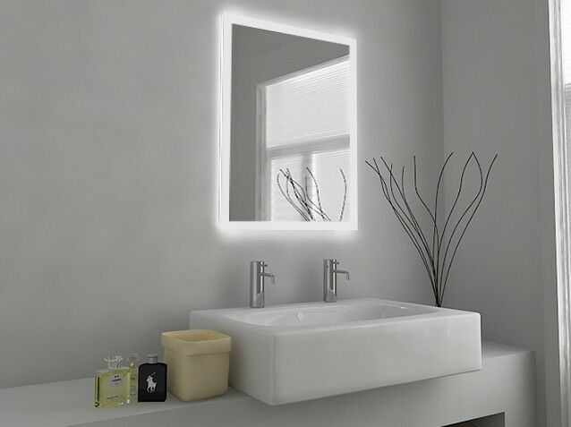 led illuminated bathroom mirror with sensor shaver and 23525
