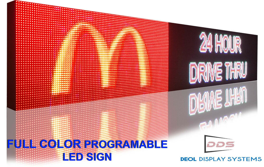 Open Led Sign Programmable Electronic Board Full Color