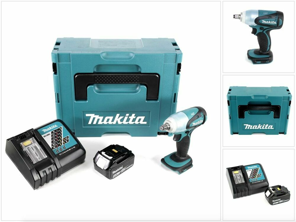 makita dtw 251 rm1j akku schlagschrauber 18v im makpac mit 4ah akku ladeger t ebay. Black Bedroom Furniture Sets. Home Design Ideas