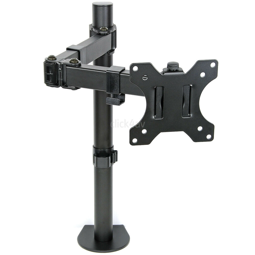 Monitor Tv Desk Mount Arm Clamp Stand 100mm Vesa Tilt