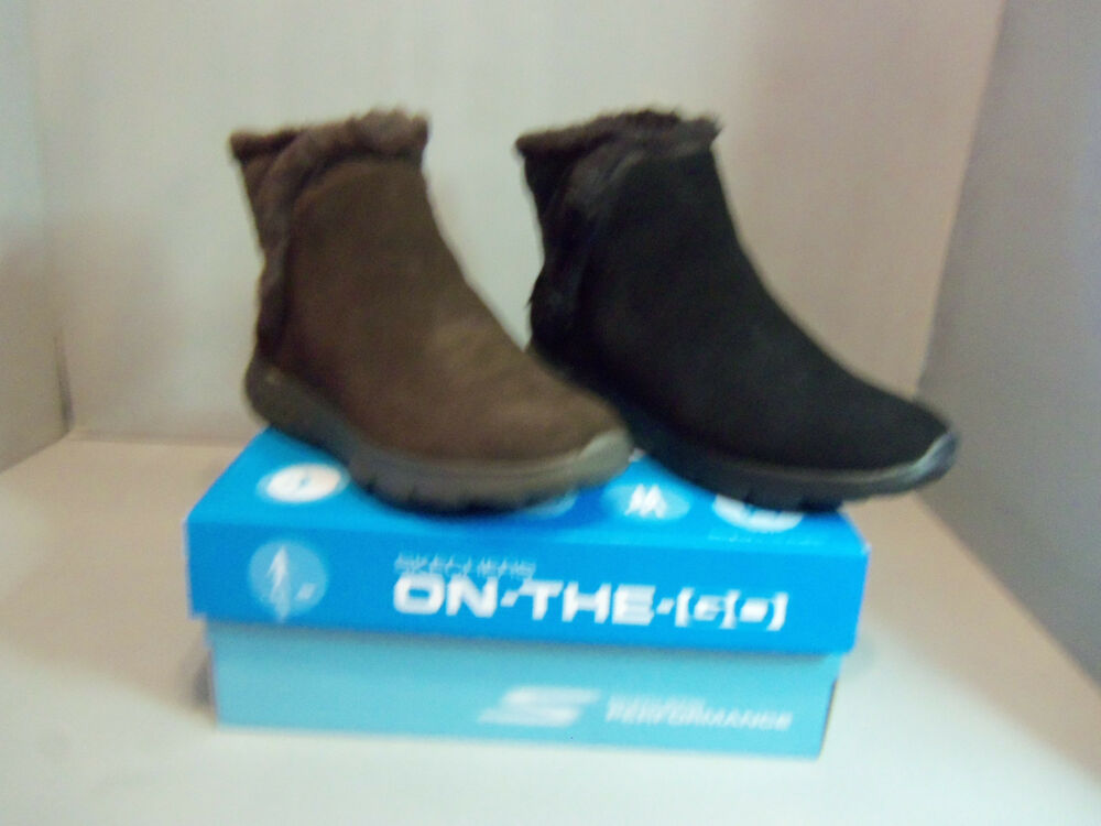 1d341fea53 Details about Skechers On-The-Go 400 Cozies Women's Suede Ankle Boots  #14356 NIB Sizes Colors