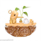 Rural L 26*W 16*H 23 CM Wood Color Bamboo + Ceramics Flowing Water Fountain