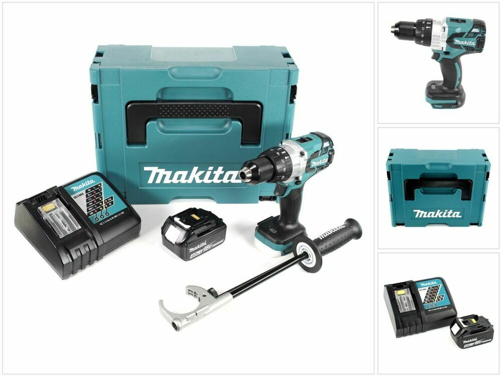 makita dhp 481 rm1j 18v schlagbohrschrauber brushless makpac 4ah akku lader ebay. Black Bedroom Furniture Sets. Home Design Ideas