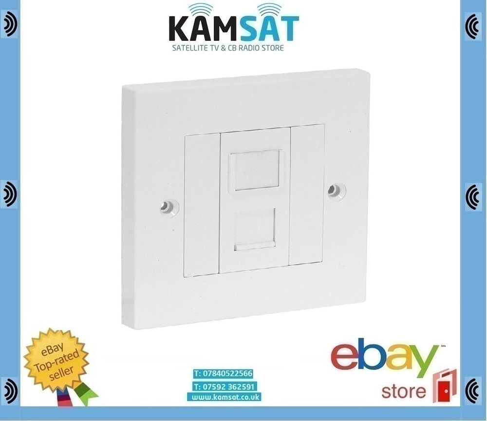 1 Way Lan Rj45 Ethernet Network Faceplate Cat5e Module Outlet Kit Philex Wiring Diagram Wall Plate 5055606401268 Ebay