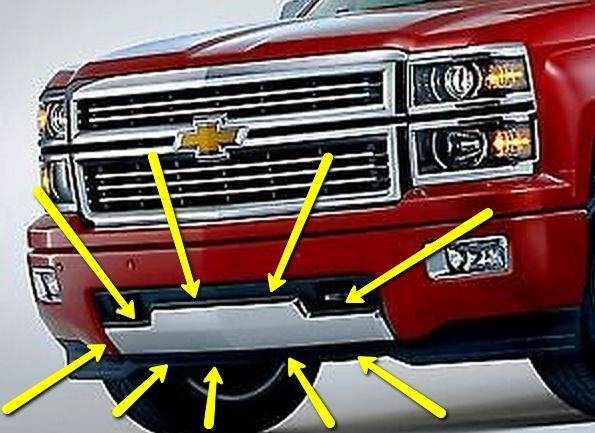 High Country Motors >> 22944882 Chrome High Country Front Bumper Center fits 2014 2015 Silverado 1500   eBay