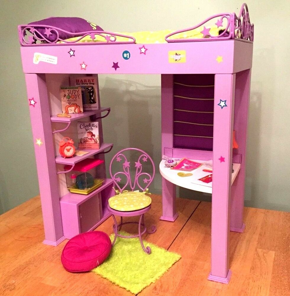 American Girl Doll Mckenna Loft Bed Set 2017 Retired Pillow Desk
