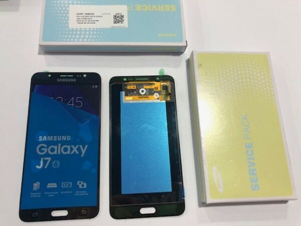 DISPLAY SCHERMO LCD + TOUCH ORIGINALE NERO PER SAMSUNG GALAXY J7 2016 SM-J710