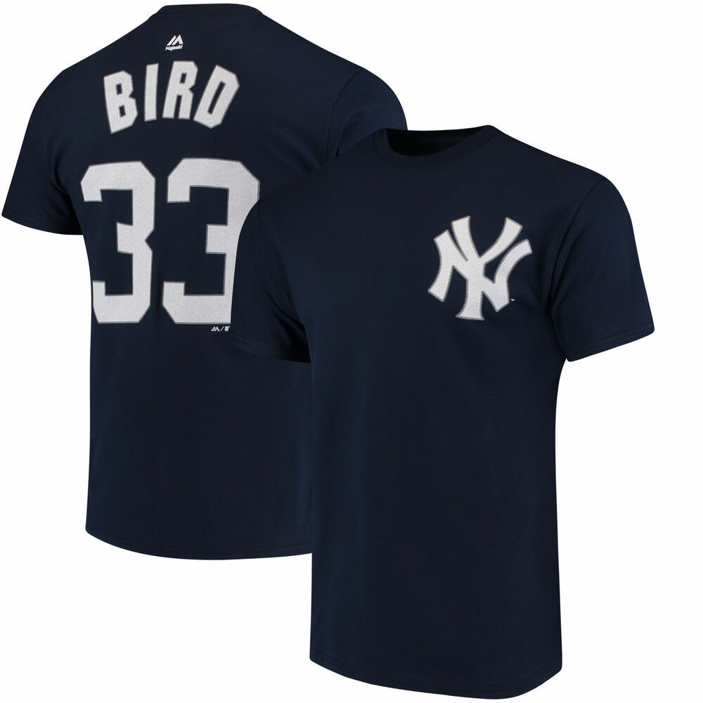 Details about Greg Bird  33 New York Yankees Majestic Men s Navy Name    Number T-Shirt 175cff632d5