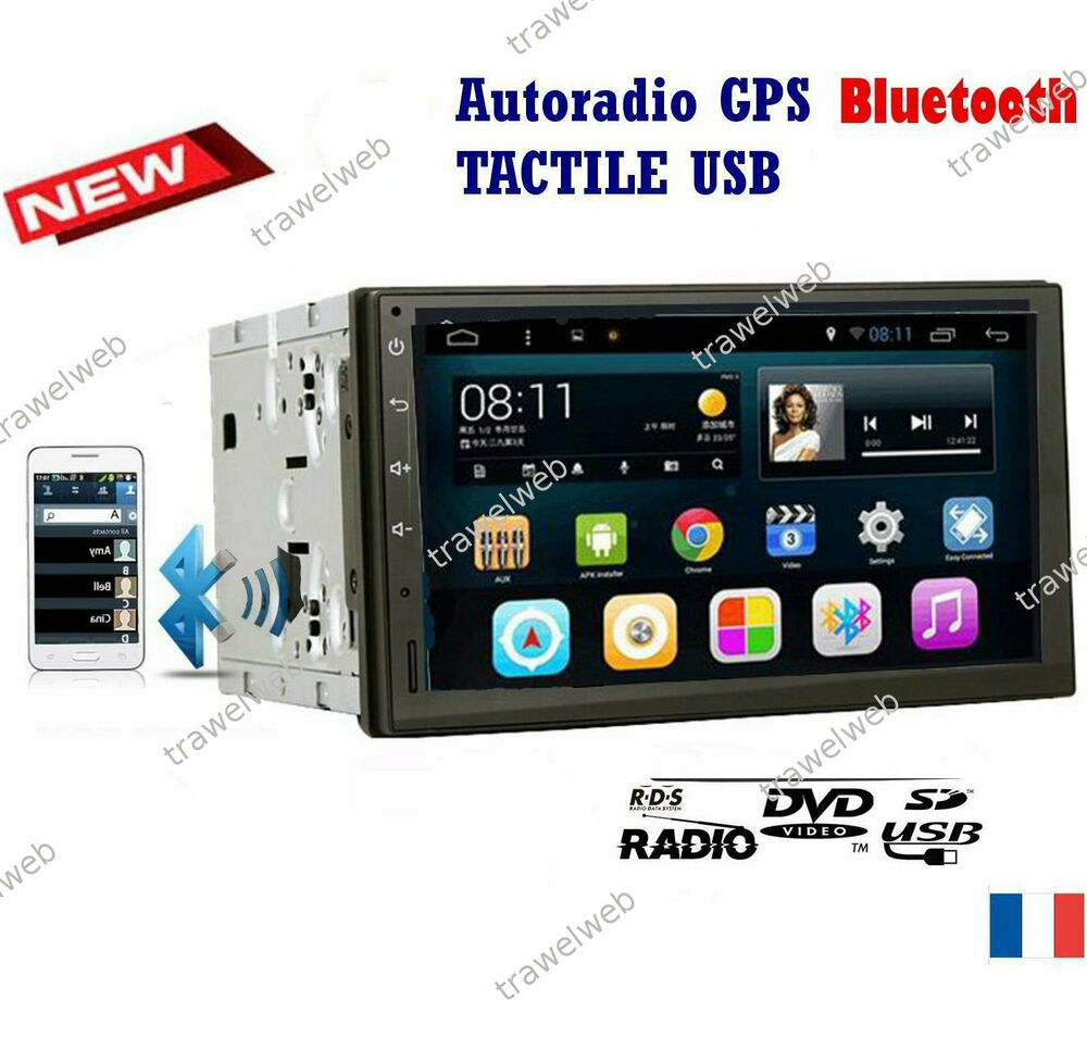 autoradio peugeot 307 207 cc c2 c3 gps 2 din bluetooth wifi android 7 1 ebay. Black Bedroom Furniture Sets. Home Design Ideas