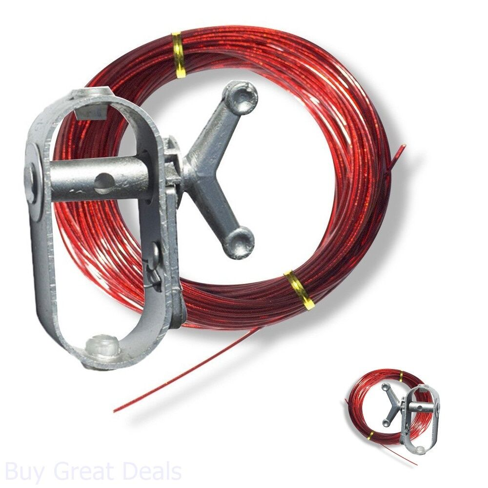 Heavy Duty Winch Tighten 100ft Cable Wire Secure Above