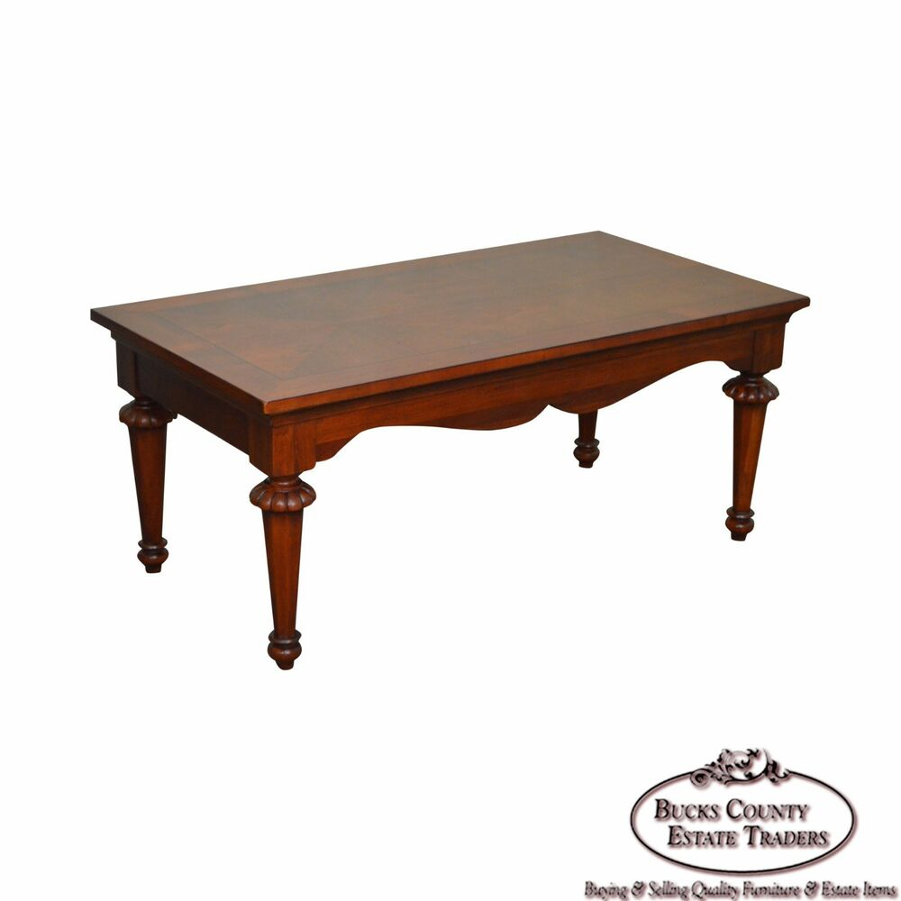Details About Lexington Cherry Wood Regency Style Rectangular Coffee Table