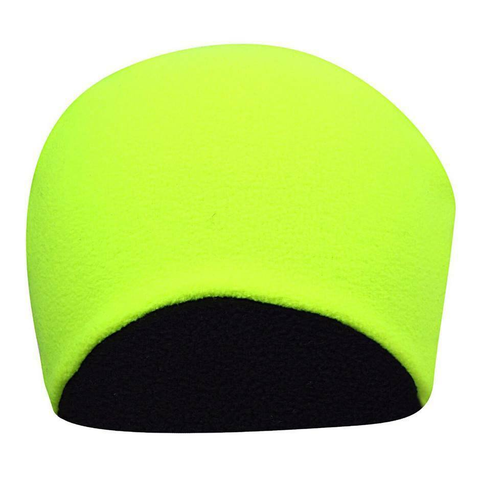 3e127e0909f2f Details about Men s Hi Vis Thermal Fleece Beanie Hat 3M Thinsulate Hats  Neon Yellow Reversible