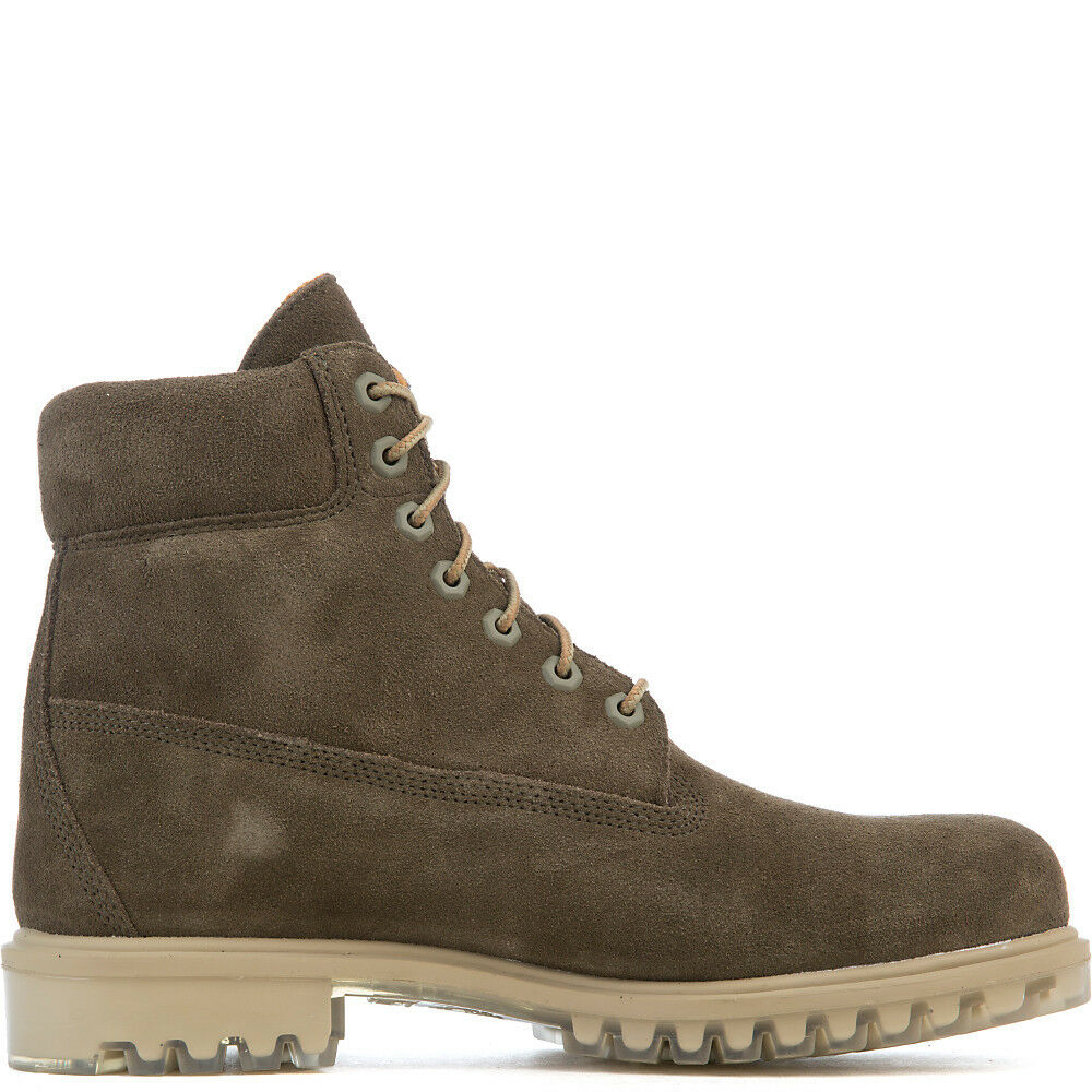 7378a665eba Details about Timberland 6' Premium Boots Autumn Leaf TB0A18PZ Suede Olive  Limited Release
