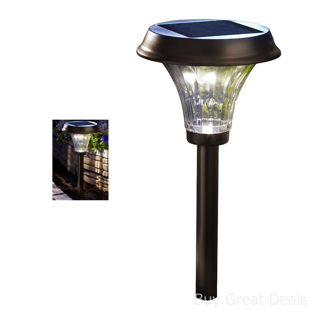 Large Outdoor 24 Led Solar Garden Pathway Light Super Bright Path Patio