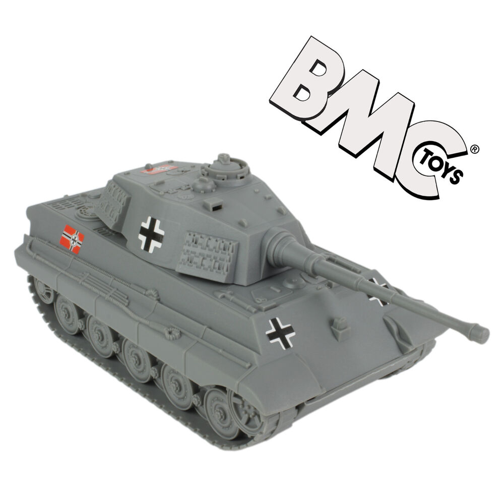 Details about bmc ww2 german king tiger ii tank gray 132 scale vehicle for plastic army men