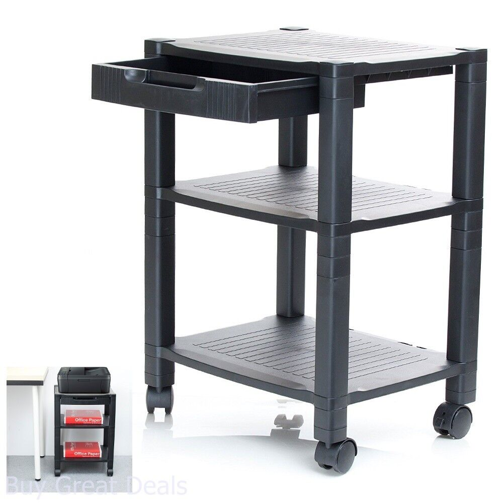 Mobile Printer Stand Organizer Table Rack Office Computer
