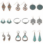 Fashion Vintage Ethnic Charm Round Stud Exquisite Women Jewelry Earrings New