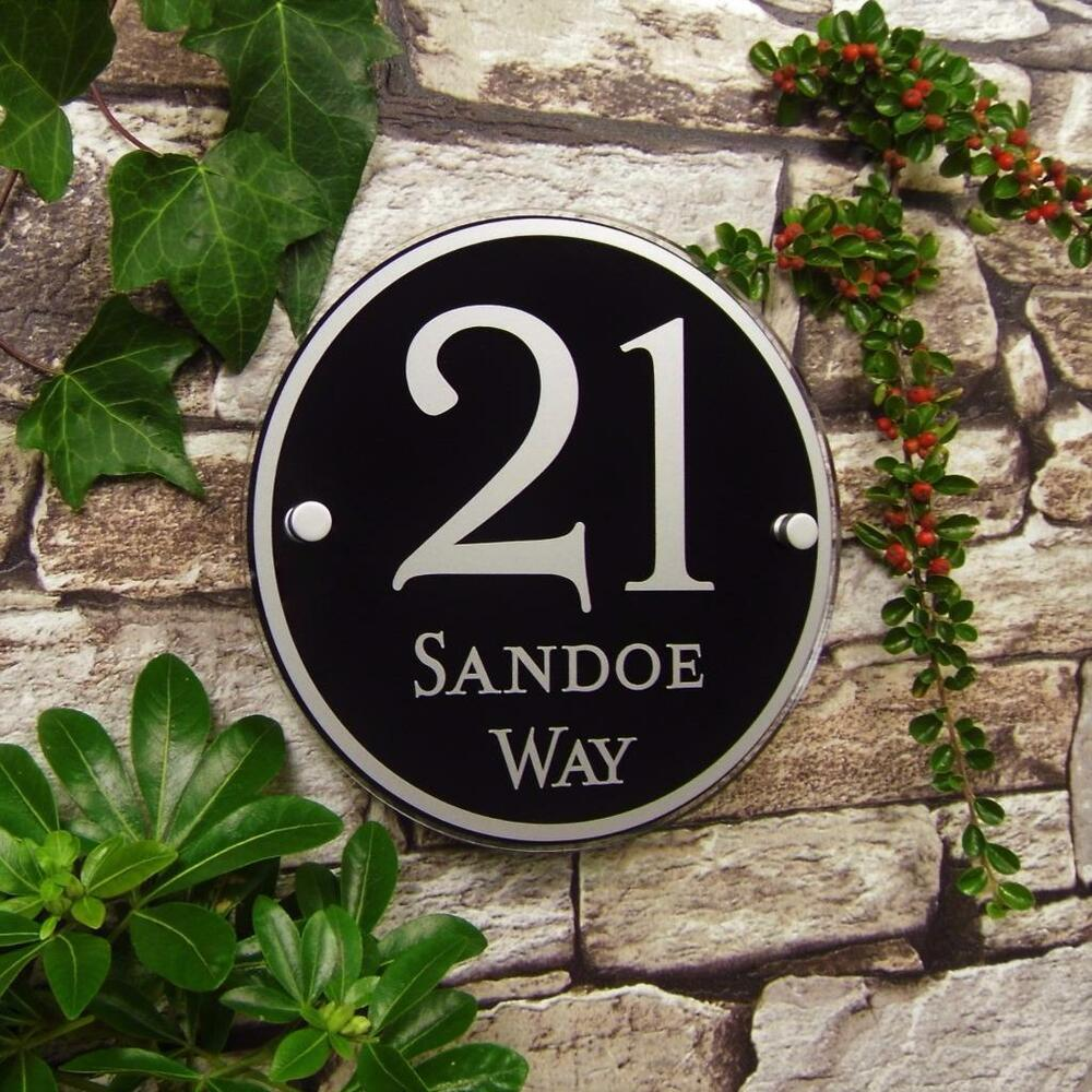 Details about modern house number signs acrylic door plaques address name plates personalised