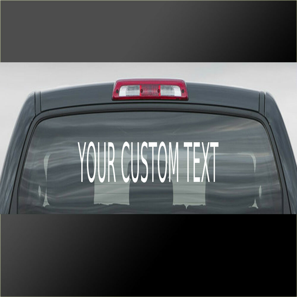 Details about personalised custom rear window car stickers vinyl name lettering decals