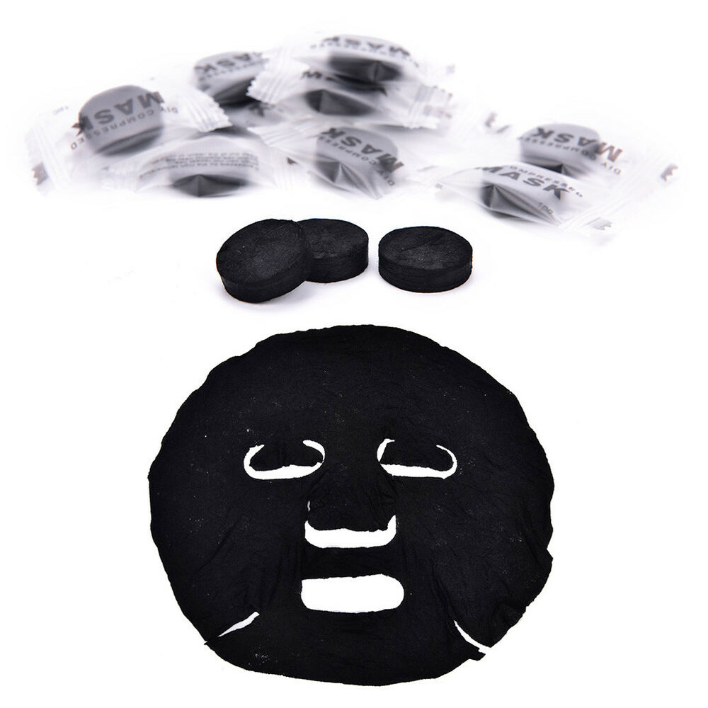 20X Compressed Mask Paper Facial Natural Bamboo Charcoal