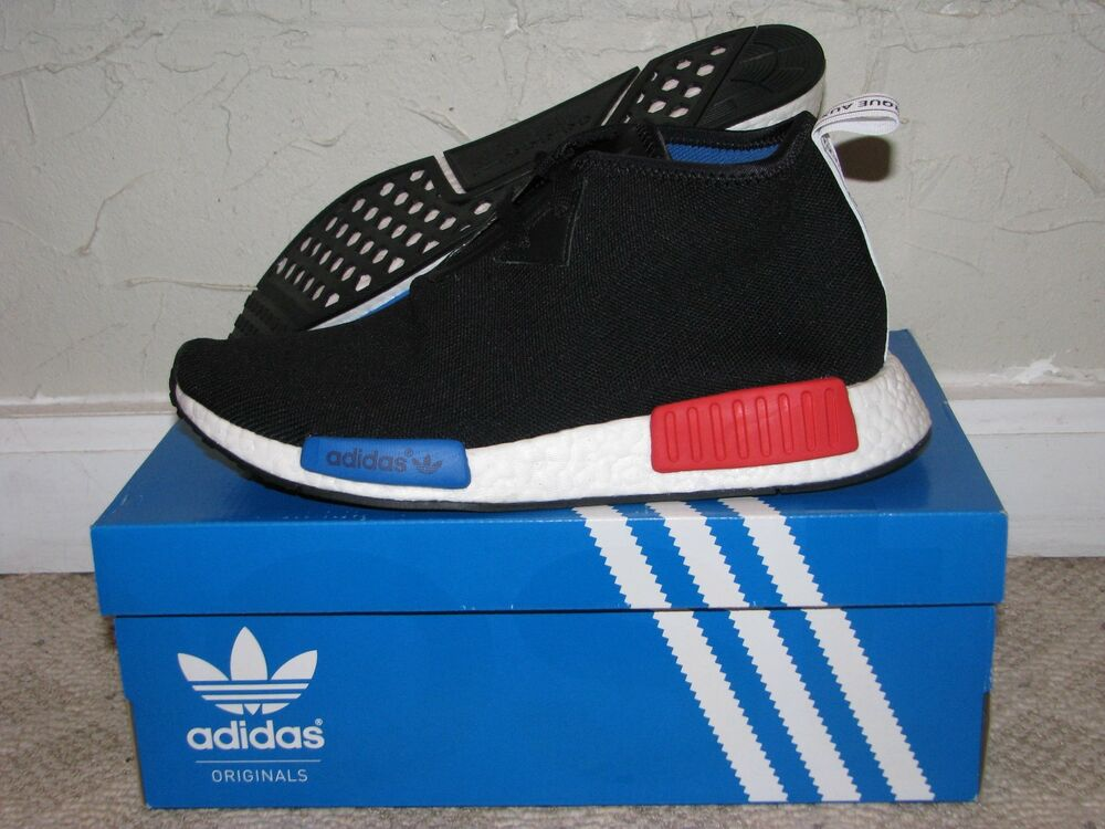 356bbca685333 Details about adidas NMD C1 OG Core Black   Lush Red Mens Size 10 DS NEW!  S79148 Boost