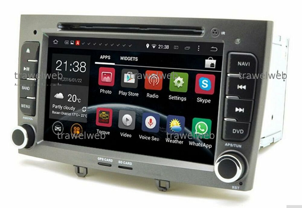 autoradio peugeot 308 408 sw cc gps 2 din dvd bluetooth ebay. Black Bedroom Furniture Sets. Home Design Ideas