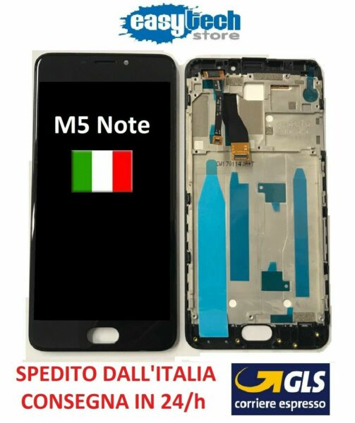 LCD Display Touch Screen FRAME CORNICE Assembly MEIZU M5 NOTE COMPLETO BLACK