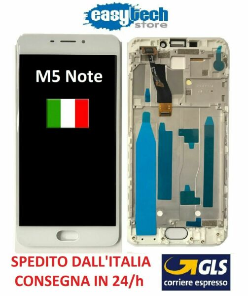 LCD Display Touch Screen FRAME CORNICE Assembly MEIZU M5 NOTE COMPLETO BIANCO