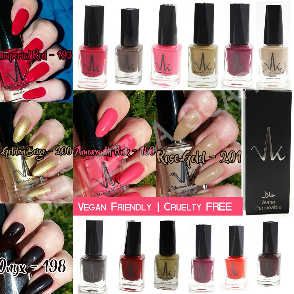 Vk London Halal Nail Polish Wudhu Friendly Breathable Water Zoya Cosmetics Lip Paint Pure Red Permeable Varnish Ebay