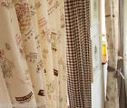 Rural Style Natural Cotton linen texture Cozy Linked 1.4m x 1 m Two Curtain