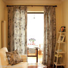 Minimalist style Natural Cotton texture Linked 1.4m x 1.8m Two Curtain
