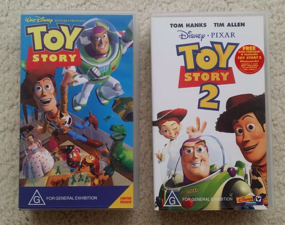 Disney Pixar TOY STORY 1 Plus TOY STORY 2 VHS Video Movie In Perfect Condition | EBay