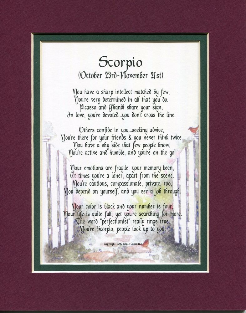 Poems of Love and Life for Scorpio