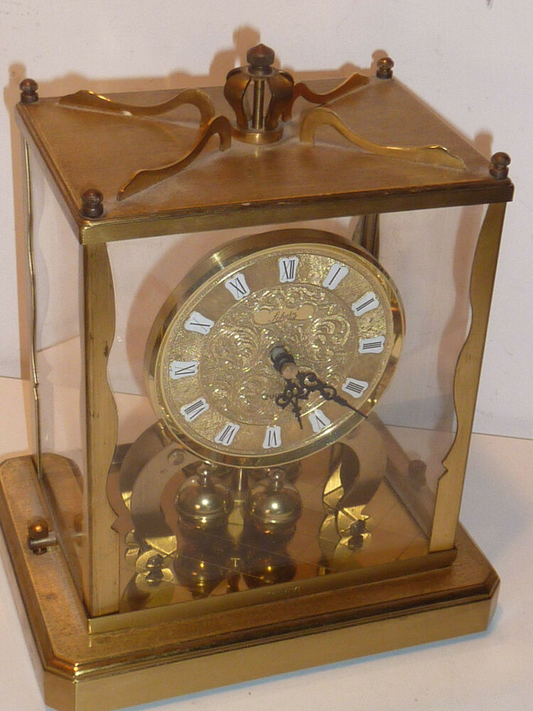 ancien horloge schatz s hne germany old clock vintage lantern pendule poser ebay. Black Bedroom Furniture Sets. Home Design Ideas