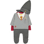 Harry Potter Wizard Boys All-In-One With Hat And Cape Baby Costume Fancy Dress