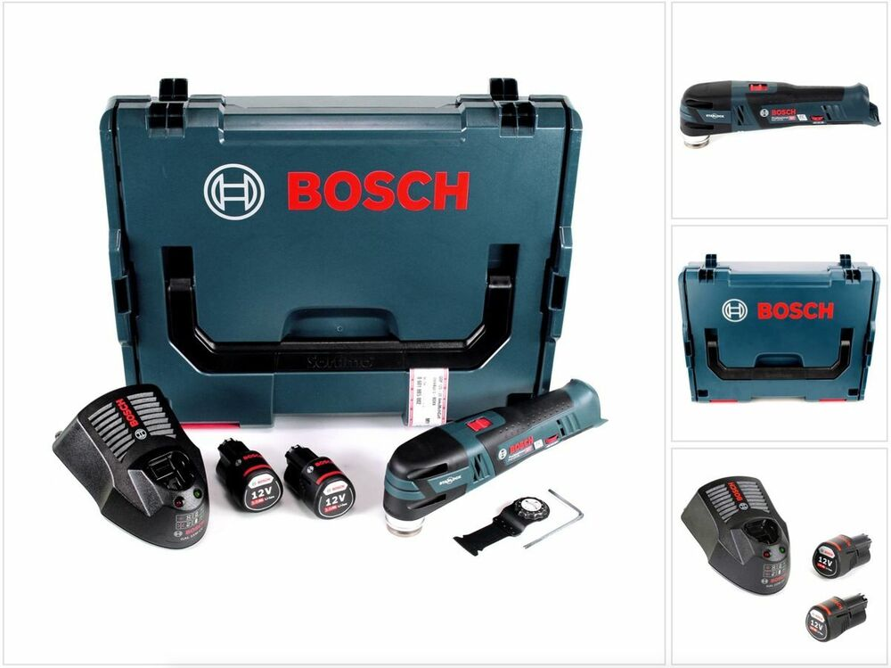 bosch gop 12v 28 akku multi cutter in l boxx 2x 3 0 ah. Black Bedroom Furniture Sets. Home Design Ideas