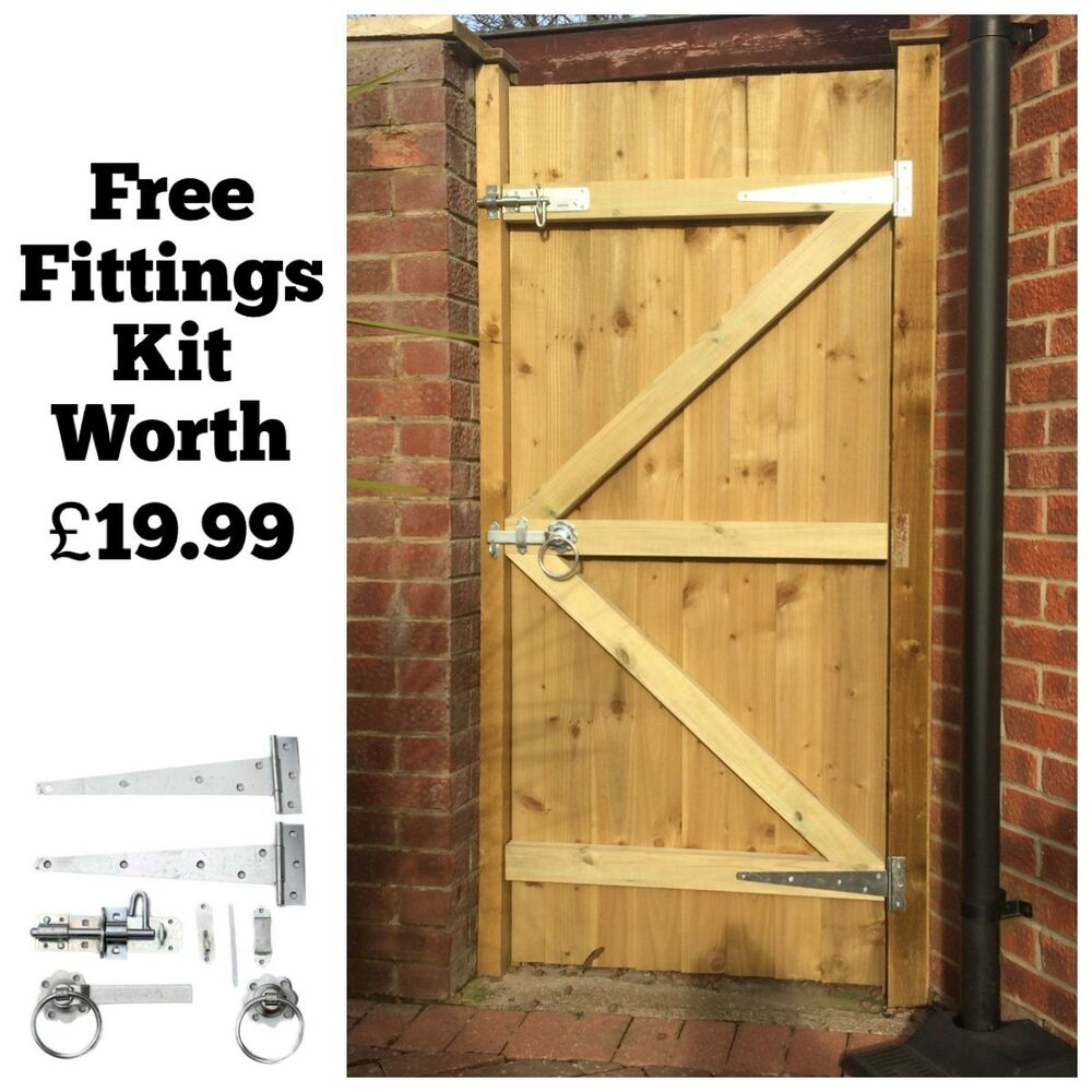 MADE TO MEASURE WOODEN GARDEN GATE / GATES FEATHEREDGE TANALISED 1.8 ...