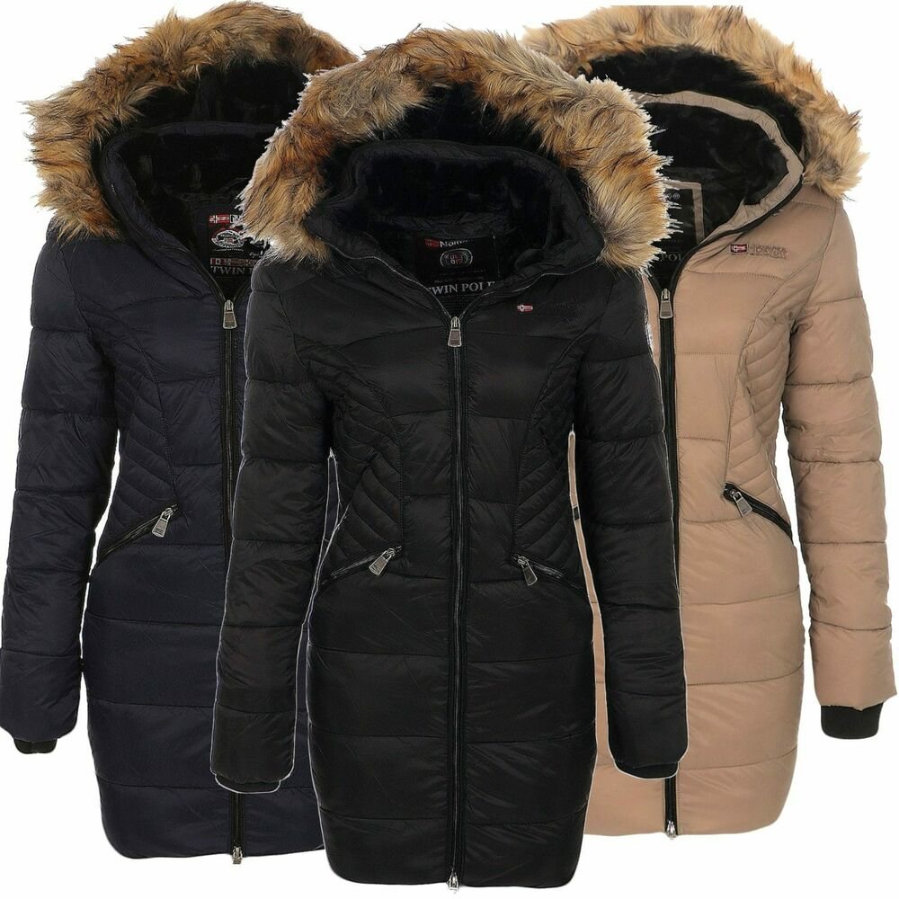 geographical norway damen winter mantel jacke coat parka steppmantel anorak ebay. Black Bedroom Furniture Sets. Home Design Ideas