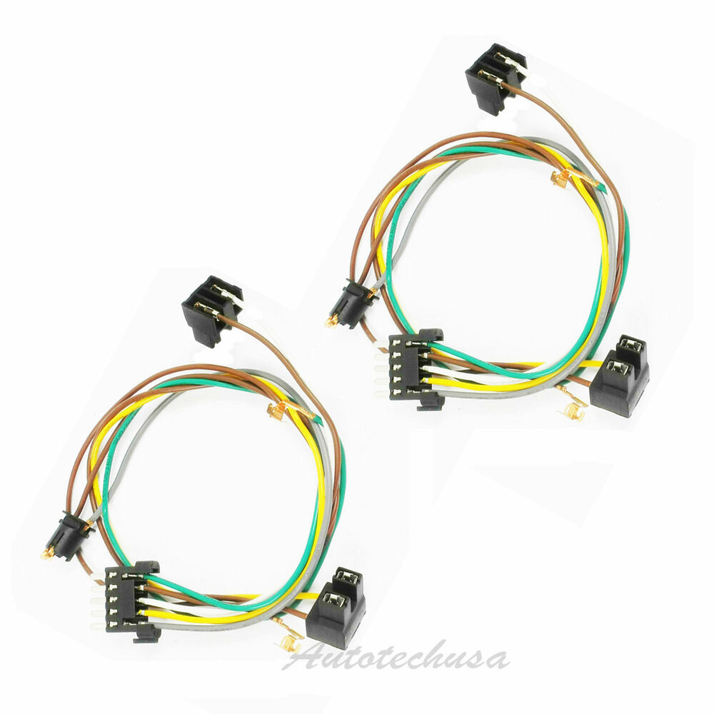 Left   Right Headlight Wire Harness Connector Kit For