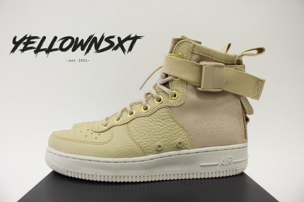 3cf12f5cd6c Details about NIKE WOMENS SF AF1 AIR FORCE 1 MID SZ 7 MUSHROOM TAN LIGHT  BONE BOOT AA3966 200