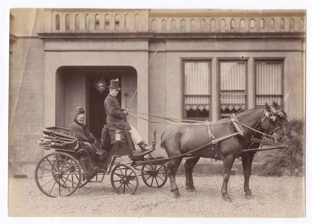 photo ancienne cal che voiture cheval vers 1900 attelage cocher chevaux cour ebay. Black Bedroom Furniture Sets. Home Design Ideas