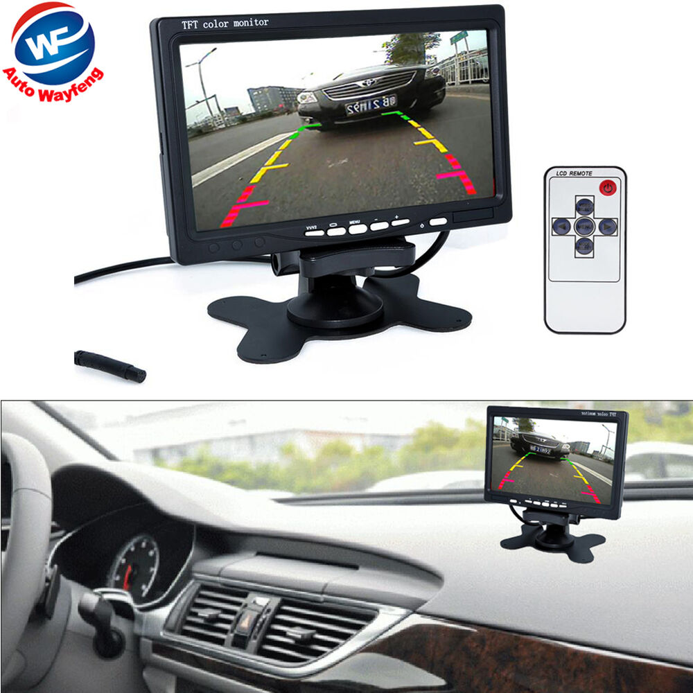 7 Tft Lcd Color Hd Mirror Monitor For Car Reverse Rear View Backup Wireless Pillow Wiring Diagram Camera Dvd Ebay