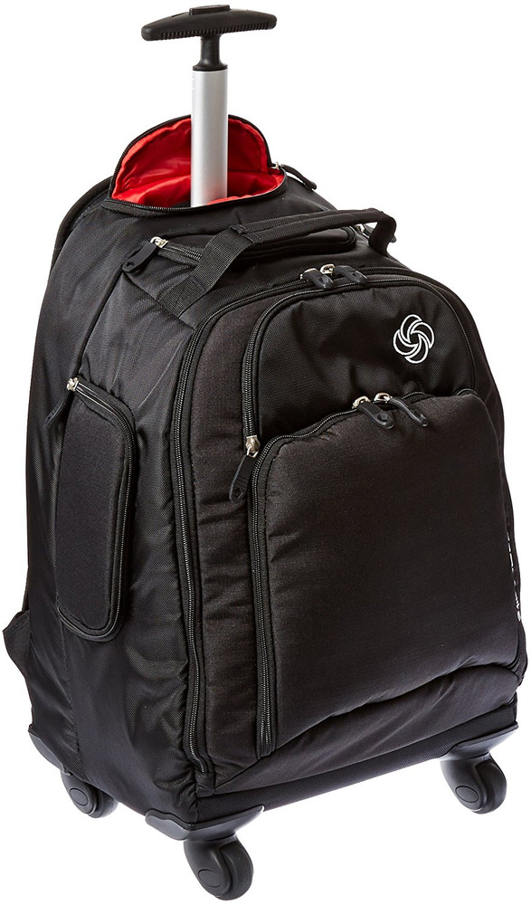 Backpack With Wheels Luggage Spinner Carry On Airplane